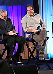 Charlie Flateman and Kurt Deutsch on stage during Broadwaycon at New York Hilton Midtown on January 11, 2019 in New York City.