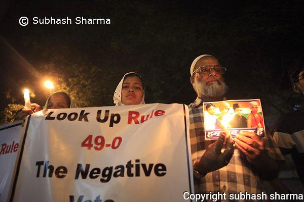 Mumbai blasts candle light vigil and protests