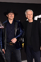 LOS ANGELES, CA - FEBRUARY 05: Robert Rodriguez, James Cameron at the premiere of 'Alita: Battle Angel'  at Westwood Regency Theater on February 5, 2019 in Los Angeles, California. <br /> CAP/MPI/DE<br /> &copy;DE//MPI/Capital Pictures