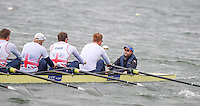Caversham. Berkshire. UK<br /> GBR M8=. Cox Phelean HILL pilots the boat during a 1K piece.<br /> 2016 GBRowing European Team Announcement,  <br /> <br /> Wednesday  06/04/2016 <br /> <br /> [Mandatory Credit; Peter SPURRIER/Intersport-images]