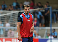 Will De Havilland of Wycombe Wanderers warms up during the Sky Bet League 2 match between Wycombe Wanderers and Colchester United at Adams Park, High Wycombe, England on 27 August 2016. Photo by Andy Rowland.