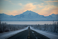 Early November scenery along the Glenn Highway, near Glennallen Alaska.