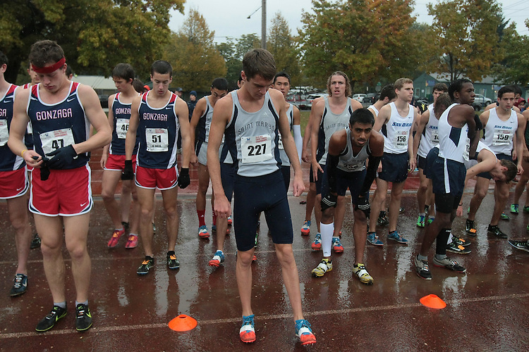 October 27, 2012; Portland, OR, USA; Saint Mary's Gaels during the WCC Cross Country Championships at Fernhill Park.