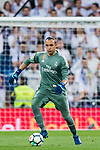 Goalkeeper Keylor Navas of Real Madrid in action during the La Liga 2017-18 match between Real Madrid and Athletic Club Bilbao at Estadio Santiago Bernabeu on April 18 2018 in Madrid, Spain. Photo by Diego Souto / Power Sport Images