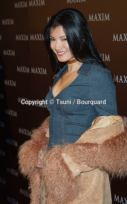 Kelly Hu arriving at the Maxim Magazine- Pussycat Dolls  at the Henry Fonda Theatre in Los Angeles. December 3, 2002.           -            HuKelly022.jpg