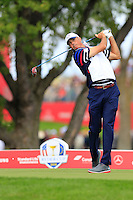 Matt Kuchar US Team tees off the 12th tee during Thursday's Practice Day of the 41st RyderCup held at Hazeltine National Golf Club, Chaska, Minnesota, USA. 29th September 2016.<br /> Picture: Eoin Clarke | Golffile<br /> <br /> <br /> All photos usage must carry mandatory copyright credit (&copy; Golffile | Eoin Clarke)