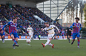 24th March 2018, McDiarmid Park, Perth, Scotland; Scottish Football Challenge Cup Final, Dumbarton versus Inverness Caledonian Thistle; Danny Handling of Dumbarton fires in a shot