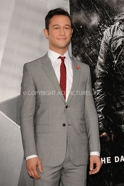 WWW.ACEPIXS.COM . . . . . .July 16, 2012...New York City...Joseph Gordon-Levitt attends 'The Dark Knight Rises' New York Premiere at AMC Lincoln Square Theater on July 16, 2012 in New York City ....Please byline: KRISTIN CALLAHAN - ACEPIXS.COM.. . . . . . ..Ace Pictures, Inc: ..tel: (212) 243 8787 or (646) 769 0430..e-mail: info@acepixs.com..web: http://www.acepixs.com .