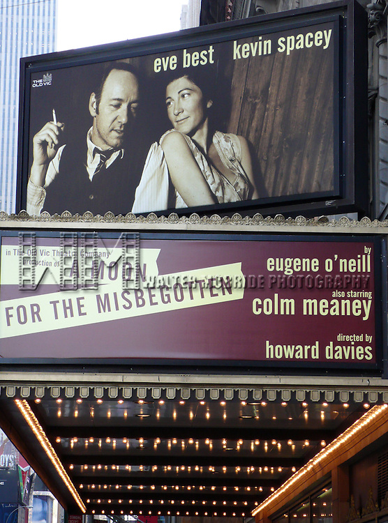 Eugene O'Neill's A Moon for the Misbegotten.( Theatre Marquee ). Kevin Spacey, Eve Best, Colm Meaney, Billy Carter and Eugene O'Hare all of whom appeared in the recent Old Vic production in London are reprising their roles on Broadway at the Brooks Atkinson Theatre in New York City..March 9, 2007.© Alice Erardy / Spotlight