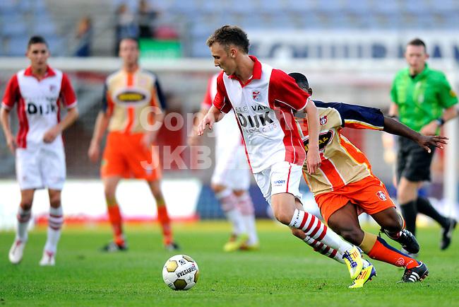 EMMEN - Voetbal, FC Emmen - FC Dordrecht, Jupiler League, Unive stadion, seizoen 2011-2012, 12-08-2011 FC Emmen speler Mike Koenders.
