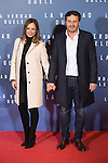 Sonia Gonzalez and Juan Pena attend `La verdad duele´ (Concussion) film premiere at Callao cinema in Madrid, Spain. January 27, 2015. (ALTERPHOTOS/Victor Blanco)