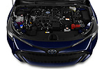 Car stock 2019 Toyota Corolla Touring Sports Dynamic 5 Door Wagon engine high angle detail view