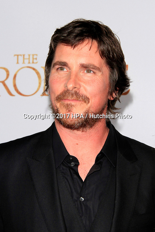 "LOS ANGELES - APR 12:  Christian Bale at the ""The Promise"" Premiere at the TCL Chinese Theater IMAX on April 12, 2017 in Los Angeles, CA"