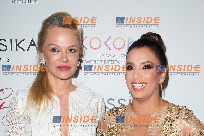 Pamela Anderson e Eva Longoria<br /> Parigi 16/05/2017. Global Gift Gala Red Carpet.<br /> Foto JB Autissier / Panoramic / Insidefoto