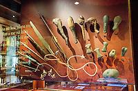 Hawaiian weapon artifacts exhibit, Bishop Museum, Honolulu