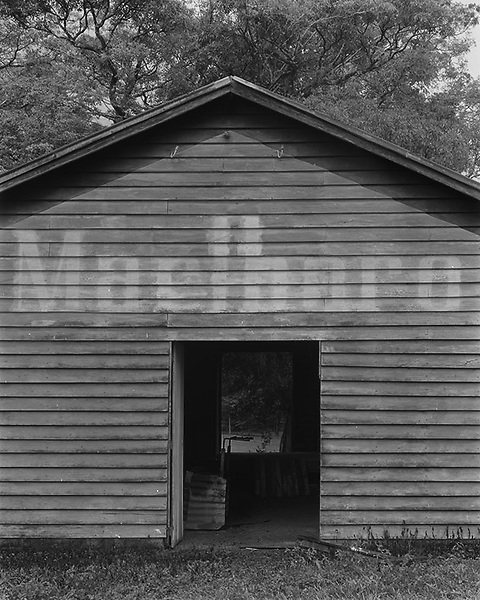 Daradgee<br /> Marlborough Shed<br /> <br /> Obviously painted in a time when tobacco advertising was still the norm; the irony of this shed in the grounds of an outdoor education camp was lost when it was destroyed by Cyclone Larry in April 2006<br /> Photographed; June 2001