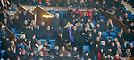 Davie Wilson takes his seat in the directors box just after half time