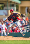 4 March 2013: Minnesota Twins pitcher Michael Tonkin on the mound during a Spring Training game against the St. Louis Cardinals at Roger Dean Stadium in Jupiter, Florida. The Twins shut out the Cardinals 7-0 in Grapefruit League play. Mandatory Credit: Ed Wolfstein Photo *** RAW (NEF) Image File Available ***