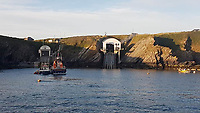 2019 07 09 Sinking boat off the coast of Pembrokeshire at about 7pm in west Wales, UK