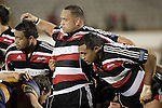 Steelers front row Simon Lemalu, John Fonokalafi & Sekope Kepu during the Air NZ Cup rugby game between Bay of Plenty & Counties Manukau played at Blue Chip Stadium, Mt Maunganui on 16th of September, 2006. Bay of Plenty won 38 - 11.