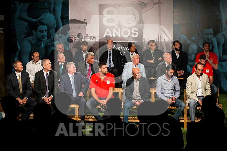 80th Aniversary of the National Basketball Team at Melia Castilla Hotel, Spain, September 01, 2015. <br /> (ALTERPHOTOS/BorjaB.Hojas)