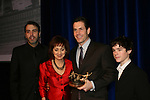 Executive producer of OLTL Frank Valentini receives the Linda Dano Heart Award and poses with Ron Carlivati, Robin Strasser and Eddie Alderson at the HeartShare Human Services 2009 Spring Gala and Auction on March 24, 2009 at the New York Marriott Marquis, New York City, NY. (Photos by Sue Coflin/Max Photos)