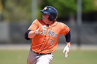 Houston Astros infielder Marc Wik (71) during a minor league spring training game against the Detroit Tigers on March 21, 2014 at Osceola County Complex in Kissimmee, Florida.  (Mike Janes/Four Seam Images)