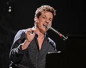 SUNRISE FL - DECEMBER 18: Charlie Puth performs at the Y100 Jingle Ball 2015 held at The BB&T Center on December 18, 2015 in Sunrise, Florida. (Photo by Larry Marano © 2015