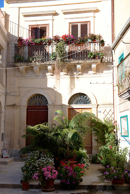 Narrow streets and lanes of Ragusa Ibla, Sicily