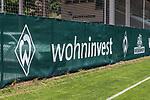 04.07.2019, Parkstadion, Zell am Ziller, AUT, TL Werder Bremen Zell am Ziller / Zillertal Tag 00<br /> <br /> im Bild<br /> Werbebanden, wohninvest, Werder-Raute, Feature, <br /> <br /> Foto © nordphoto / Ewert
