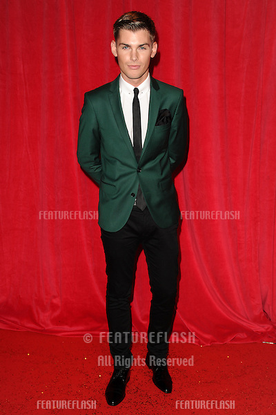 Kieron Richardson arriving for the 2014 British Soap Awards, at the Hackney Empire, London. 24/05/2014 Picture by: Steve Vas / Featureflash
