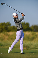 Sung Hyun Park (KOR) watches her tee shot on 1 during the round 3 of the Volunteers of America Texas Classic, the Old American Golf Club, The Colony, Texas, USA. 10/5/2019.<br /> Picture: Golffile   Ken Murray<br /> <br /> <br /> All photo usage must carry mandatory copyright credit (© Golffile   Ken Murray)