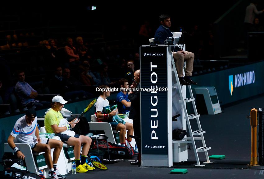 Rotterdam, The Netherlands, 14 Februari 2020, ABNAMRO World Tennis Tournament, Ahoy, Doubles: Henri Kontinen (FIN) and Jan-Lennard Struff (GER), Jamier Murray (GBR) and Neal Skypski (GBR). <br /> Photo: www.tennisimages.com