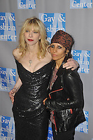 L.A. Gay & Lesbian Center's 'An Evening With Women' at The Beverly Hilton Hotel on May 19, 2012 in Beverly Hills, California. © mpi35/MediaPunch Inc. Pictured- Courtney Love and Linda Perry