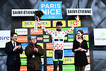 Pierre Luc Perichon (FRA) Team Fortuneo-Samsic retains the Polka Dot Jersey at the end of Stage 4 of the Paris-Nice 2018 an 18km individual time trial running from La Fouillouse to Saint-Etienne, France. 7th March 2018.<br />