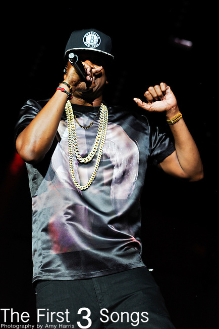 Jay-Z performs during Day 1 of the Made in America Music Fesival in Philadelphia, Pennsylvania.