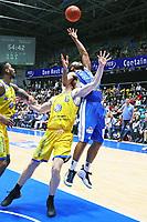 Quantez Robertson (Fraport Skyliners) gegen Luis Figge (Basketball Löwen Braunschweig) - 11.10.2017: Fraport Skyliners vs. Basketball Löwen Braunschweig, Fraport Arena Frankfurt