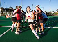 STANFORD, CA - September 3, 2010: Katie Mitchell (6) during a field hockey match against UC Davis in Stanford, California. Stanford won 3-1.