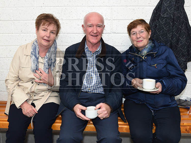 Brendan and Anne Cudden and Claire Greene at the official opening of the new dressing rooms at St Mary's GFC Donore.  Photo:Colin Bell/pressphotos.ie