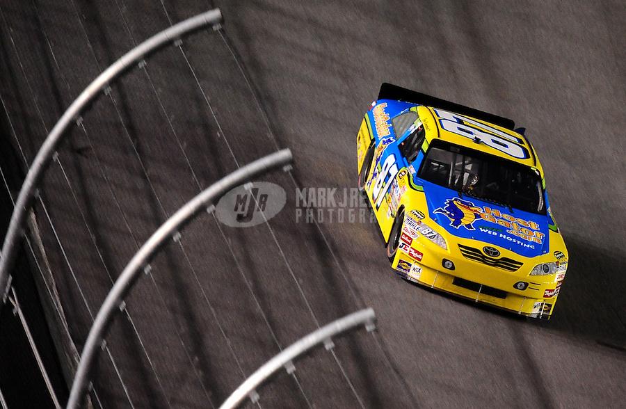 Jul. 3, 2010; Daytona Beach, FL, USA; NASCAR Sprint Cup Series driver Joe Nemechek (87) during the Coke Zero 400 at Daytona International Speedway. Mandatory Credit: Mark J. Rebilas-