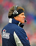 28 December 2008: New England Patriots' Head Coach Bill Belichick awaits the start of play against the Buffalo Bills at Ralph Wilson Stadium in Orchard Park, NY. The Patriots kept their playoff hopes alive defeating the Bills 13-0 in their 16th win against Buffalo of their past 17 meetings. ***** Editorial Use Only ******..Mandatory Photo Credit: Ed Wolfstein Photo