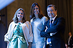 "Ainhoa Arteta (L), Edurne Pasaban (C) and Joan Roca during the 6th edition of the collecting badges to the new ambassadors fees ""Marca España"" in his 6th edition at BBVA City in Madrid, November 12, 2015.<br /> (ALTERPHOTOS/BorjaB.Hojas)"