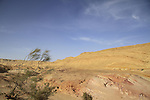Israel, Negev desert, Colored rocks at the Large Crater