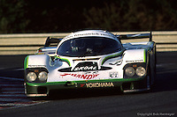 LE MANS, FRANCE: The Porsche 956B 114 of David Hobbs, Philippe Streiff and Sarel van der Merwe being driven to a 3rd place finish in the 24 Hours of Le Mans at Circuit de la Sarthe in Le Mans, France, on June 17, 1984.