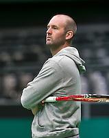 09-02-14, Netherlands,Rotterdam,Ahoy, ABNAMROWTT, Michel Koning (NED) the coach of Igor Sijsling<br /> Photo:Tennisimages/Henk Koster