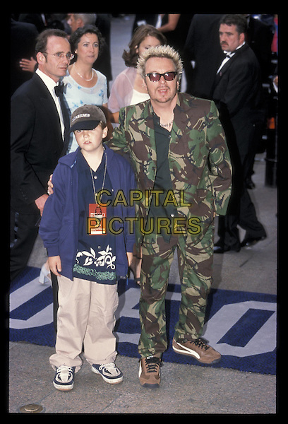 DAVE STEWART & son.14 July 1999.Ref: 8663.full length, full-length, camouflage.*RAW SCAN- photo will be adjusted for publication*.www.capitalpictures.com.sales@capitalpictures.com.©Capital Pictures