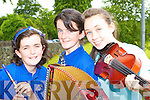 Roisin Kelleher, Maireann Kelleher and Cliona Creedon Glenflesk who won the u15 Grupa Cheoil at the Killarney Fleadh Cheoil in Killarney Community College on Saturday    Copyright Kerry's Eye 2008