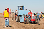 Annual fall Gas-Up at McFarland Ranch near Galt, Calif. of Branch 13, Early-Day Gas Engine and Tractor Association. (EDGE & TA)..1955 Ferguson Mod. 35 tractor in tractor pull