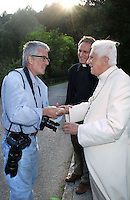 Stefano Spaziani Papa Benedetto XVI;Private walk of Pope Benedict XVI during his summer vacation,. looks at the 'Centro Cadore' lake in Domegge, Lorenzago di Cadore, in Italy's Dolomite mountains...July 23, 2007...