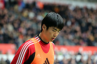 Pictured: Ki Sung Yueng of Swansea. Saturday 30 March 2013<br /> Re: Barclay's Premier League, Swansea City FC v Tottenham Hotspur at the Liberty Stadium, south Wales.